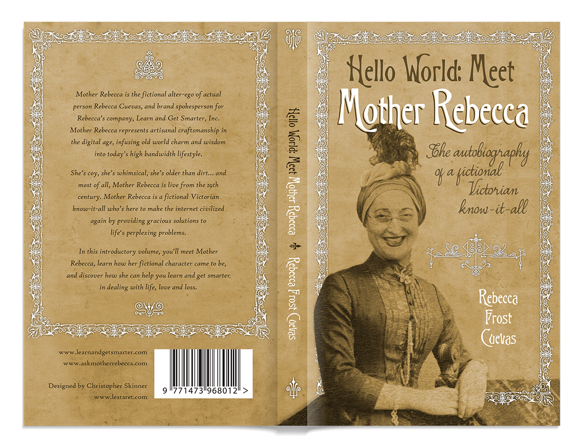 Mother Rebecca book cover with front and back text