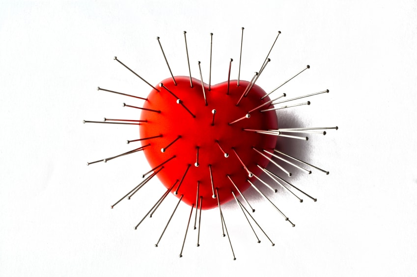Heart with Straight Pin